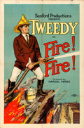 Movie Posters:Comedy, Fire! Fire! (Sanford Productions, 1922). Folded, Fine/Very...