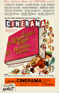 "The Wonderful World of the Brothers Grimm (MGM, 1962). Very Fine-. Premiere Cinerama Window Card (14"" X 22"")..."