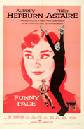 Movie Posters:Romance, Funny Face (Paramount, 1957). Folded, Very Fine-. ...