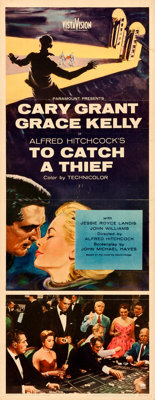 """To Catch a Thief (Paramount, 1955). Folded, Fine/Very Fine. Insert (14"""" X 36"""")"""