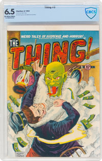 The Thing! #3 (Charlton, 1952) CBCS FN+ 6.5 Off-white to white pages