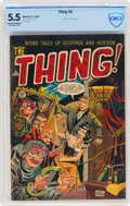 Golden Age (1938-1955):Horror, The Thing! #8 (Charlton, 1953) CBCS FN- 5.5 Cream to off-white pages....