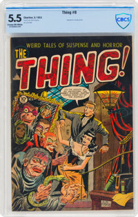 The Thing! #8 (Charlton, 1953) CBCS FN- 5.5 Cream to off-white pages