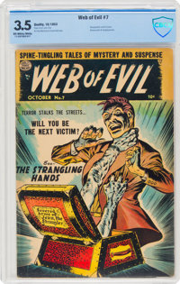 Web of Evil #7 (Quality, 1953) CBCS VG- 3.5 Off-white to white pages