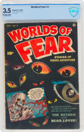 Golden Age (1938-1955):Horror, Worlds of Fear #4 (Fawcett Publications, 1952) CBCS VG- 3.5 Off-white to white pages....