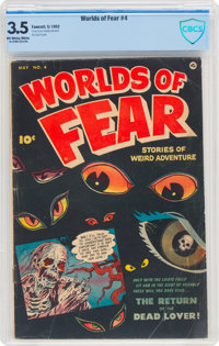 Worlds of Fear #4 (Fawcett Publications, 1952) CBCS VG- 3.5 Off-white to white pages