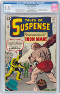 Silver Age (1956-1969):Superhero, Tales of Suspense #40 (Marvel, 1963) CGC FN- 5.5 Off-white to white pages....