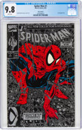 Modern Age (1980-Present):Superhero, Spider-Man #1 Silver Edition Unbagged (Marvel, 1990) CGC NM/MT 9.8 White pages....