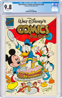 Walt Disney's Comics and Stories #550 (Disney, 1990) CGC NM/MT 9.8 White pages