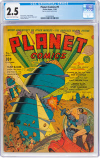 Planet Comics #9 (Fiction House, 1940) CGC GD+ 2.5 Cream to off-white pages