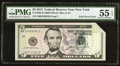 Error Notes:Foldovers, Foldover Error Fr. 1996-B $5 2013 Federal Reserve Note. PMG About Uncirculated 55 EPQ.. ...