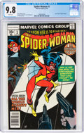 Bronze Age (1970-1979):Superhero, The Spider-Woman #1 (Marvel, 1978) CGC NM/MT 9.8 White pages....