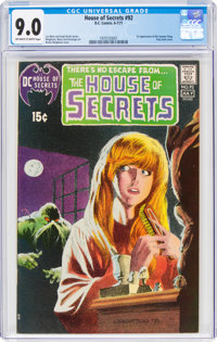 House of Secrets #92 (DC, 1971) CGC VF/NM 9.0 Off-white to white pages