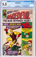 Silver Age (1956-1969):Superhero, Daredevil #1 (Marvel, 1964) CGC FN- 5.5 Cream to off-white pages....