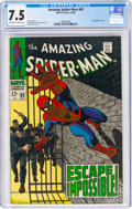 Silver Age (1956-1969):Superhero, The Amazing Spider-Man #65 (Marvel, 1968) CGC VF- 7.5 Off-white to white pages....