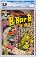 Golden Age (1938-1955):Horror, Bobby Benson's B-Bar-B Riders #14 (Magazine Enterprises, 1952) CGC VF 8.0 Off-white to white pages....