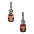 Estate Jewelry:Earrings, Spinel, Diamond, White Gold Earrings. ...