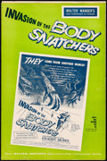 "Movie Posters:Science Fiction, Invasion of the Body Snatchers (Allied Artists, 1956). Very Fine-.Uncut Pressbook (15 Pages, 12"" X 18"") & Herald (11..."