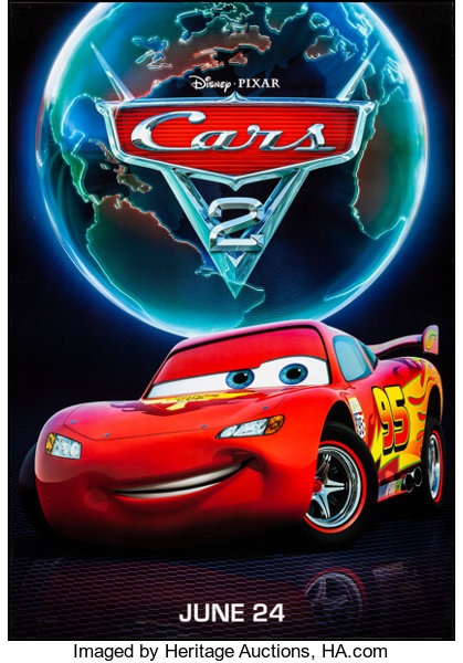 Cars 2 Walt Disney Pictures 2011 Rolled Very Fine Bus Lot