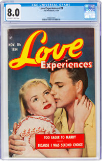 Love Experiences #28 (Ace, 1954) CGC VF 8.0 Off-white to white pages
