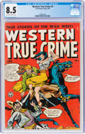 Golden Age (1938-1955):Western, Western True Crime #5 (Fox Features Syndicate, 1949) CGC VF+ 8.5 Off-white to white pages....
