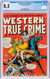 Western True Crime #5 (Fox Features Syndicate, 1949) CGC VF+ 8.5 Off-white to white pages