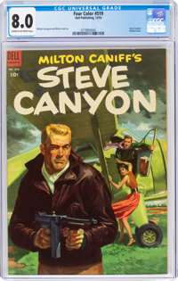 Four Color #519 Steve Canyon (Dell, 1953) CGC VF 8.0 Cream to off-white pages