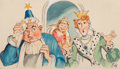 Works on Paper, American Artist (20th Century). Group of Three Fairy Tale children book illustration. Gouache on paper, each. 9 x 11-3/4...