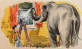 Works on Paper, American Artist (20th Century). Pair of Elephant Children's book illustrations. Gouache on board, each. 7-1/4 x 11 inche...
