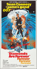 "Movie Posters:James Bond, Diamonds are Forever (United Artists, 1971). Folded, Very Fine. International Three Sheet (41"" X 77""). Robert McGinnis Artwo..."