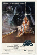"""Movie Posters:Science Fiction, Star Wars (20th Century Fox, 1977). Fine on Linen. Third PrintingOne Sheet (27.5"""" X 41"""") Style A, Tom Jung Artwork. ..."""