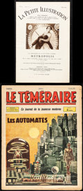 "Movie Posters:Science Fiction, Metropolis in La Petite & Other Lot (1928). Fine/Very Fine.French Magazines (2) (Multiple Pages, 7.75"" X 11.75"" & 11..."