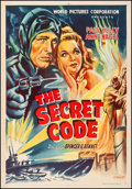 "Movie Posters:Serial, The Secret Code (World Pictures, R-1950s). Very Fine- on Linen.Indian Stock One Sheet (28.25"" X 40.75"") Nachankar Ar..."