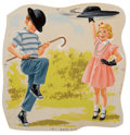 Fine Art - Work on Paper, Richard Wiley (American, 20th Century). Neat Trick, Dick and Jane illustration. Gouache on paper. 8-1/4 x 8 inches (21.0...