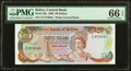 World Currency, Belize Central Bank 20 Dollars 1.1.1986 Pick 49a PMG Gem Uncirculated 66 EPQ.. ...