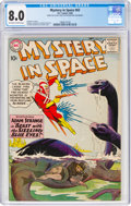 Silver Age (1956-1969):Science Fiction, Mystery in Space #62 (DC, 1960) CGC VF 8.0 Off-white to white pages....