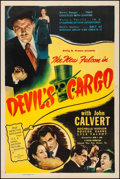 "Movie Posters:Mystery, Devil's Cargo (Film Classics, Inc., 1948). Very Fine- on Linen. OneSheet (27.5"" X 41""). Mystery.. ..."