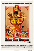 "Movie Posters:Action, Enter the Dragon (Warner Brothers, 1973). Fine/Very Fine on Linen. One Sheet (27.25"" X 41""). Bob Peak Artwork. Action.. ..."