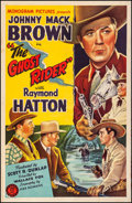 """Movie Posters:Western, The Ghost Rider (Monogram, 1943). Fine+ on Linen. One Sheet (27"""" X41""""). Western.. ..."""