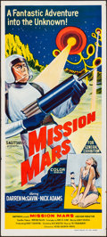 "Movie Posters:Science Fiction, Mission Mars (Sagittarius, 1968). Folded, Very Fine. AustralianDaybill (13.25"" X 29.75""). Science Fiction.. ..."
