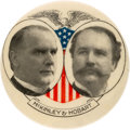 Political:Pinback Buttons (1896-present), McKinley & Hobart: Large Eagle and Shield Jugate. . ...