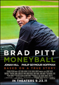 """Moneyball & Other Lot (Columbia, 2011). Rolled, Very Fine. Bus Shelter (47.25"""" X 68.5"""") & Banner (77&q..."""