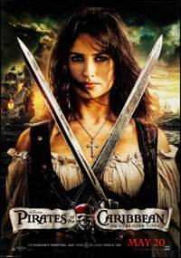 """Pirates of the Caribbean: On Stranger Tides (Walt Disney Pictures, 2011). Rolled, Very Fine. Bus Shelters (2) (47.5""""..."""