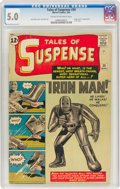 Silver Age (1956-1969):Superhero, Tales of Suspense #39 (Marvel, 1963) CGC VG/FN 5.0 Cream to off-white pages....