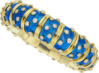 Diamond, Enamel, Gold Bracelet, Schlumberger for Tiffany & Co., French