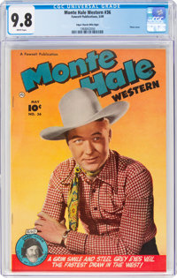 Monte Hale Western #36 Mile High Pedigree (Fawcett Publications, 1949) CGC NM/MT 9.8 White pages