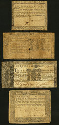 Colonial Notes:Maryland, Maryland Colonials Four Examples March 1, 1770 $1 Good or Better.. ... (Total: 4 notes)