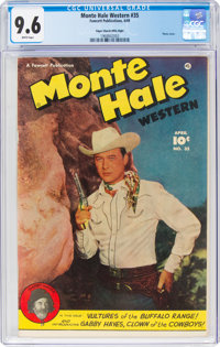 Monte Hale Western #35 Mile High Pedigree (Fawcett Publications, 1949) CGC NM+ 9.6 White pages