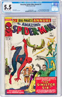 The Amazing Spider-Man Annual #1 (Marvel, 1964) CGC FN- 5.5 Off-white to white pages