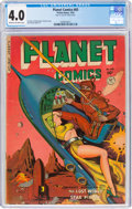 Golden Age (1938-1955):Science Fiction, Planet Comics #65 (Fiction House, 1951) CGC VG 4.0 Cream to off-white pages....